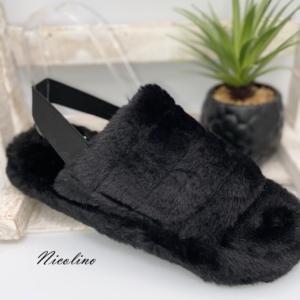 Pantoufles Jessy noires