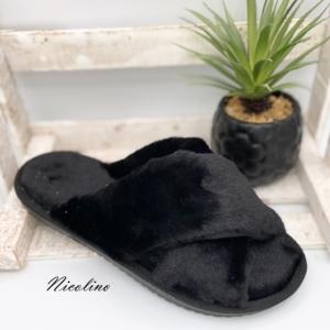 Pantoufles Jill noires